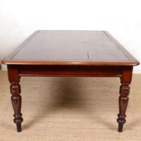Large Library Desk Mahogany Leather 19th Century (7 of 9)