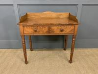 Victorian Mahogany 2 Drawer Side Table c.1860