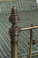 Handsome Victorian All Naturally Aged Brass King Size Bed (6 of 10)