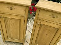 Two 'will split' Lovely & Matching Bedside Cabinets / Cupboards (3 of 8)
