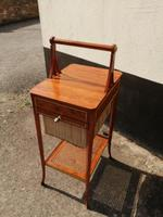 Beautiful Sheraton Revival Satinwood Sewing Table (10 of 11)