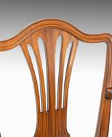 Attractive Set of 10 (8+2) Camel Backed Mahogany Framed Chairs (3 of 7)