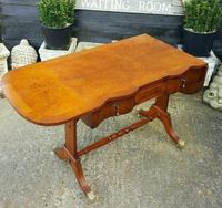 Antique Design Walnut Serpentine Front Desk (3 of 7)