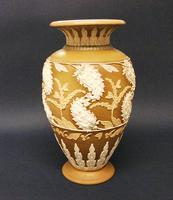 Splendid Royal Doulton Silicon Ware Vase c.1890 (2 of 6)