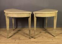 Pair of Swedish Gustavian Style Painted Marble Top Console Tables (8 of 12)