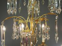 Edwardian Gilded and Glass Chandelier (9 of 13)
