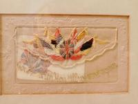 Early 20th century embroidered silk greetings cards (6 of 16)