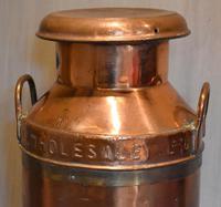 Large United Dairies Copper Milk Churn (2 of 7)