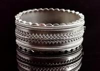 Antique Victorian Silver Bangle, Aesthetic Era, Boxed (3 of 17)