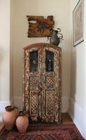 Unique Tall Two Door Teak & Painted Cabinet (6 of 16)
