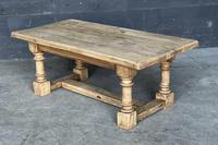 French Bleached Oak Coffee Table (7 of 11)