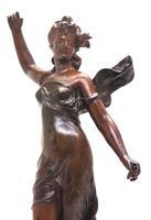 Incredible Art Nouveau Dancing Figural Mantel Clock 8 Day Striking Mantle (6 of 11)
