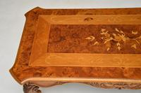 French Style Burr Walnut Inlaid Marquetry Coffee Table (5 of 10)