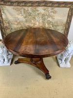 19th Century Rosewood Round Centre Table (3 of 8)