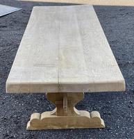 Huge French Bleached Oak Farmhouse Dining Table (10 of 34)