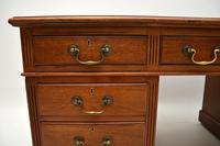 Large Antique Victorian  Mahogany  Pedestal Desk (8 of 12)