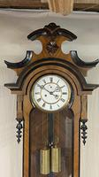 Walnut & Ebonised Key Hole Vienna Wall Clock (2 of 5)