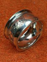 Antique Sterling Silver Hallmarked Napkin Ring 1901 John Rose (4 of 10)