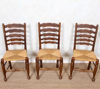 6 Oak Elm Rushwork Country Dining Chairs (10 of 10)