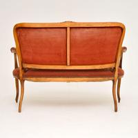 Antique French Needlepoint Salon Two Seater Sofa (3 of 12)