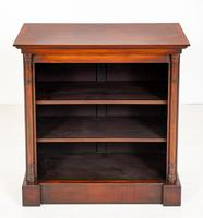 Mahogany Open Bookcase with adjustable shelves (5 of 8)