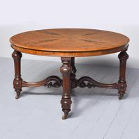 Exceptional Quality Large, Figured Walnut Victorian Centre Table (6 of 6)