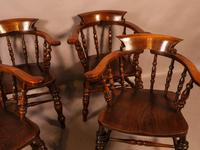 Set of 4 Victorian Captains Chairs (6 of 7)