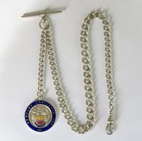 Antique Silver Pocket Watch Chain, Newbury Challenge Cup