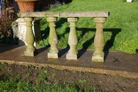 Weatherworn Concrete Balustrade, Columns & Coping Stones (7 of 7)