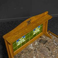 Arts & Crafts Oak Washstand with Marble Top (11 of 14)