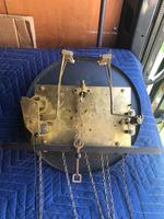 Antique Oak Triple Weight Granddaughter Clock (7 of 10)