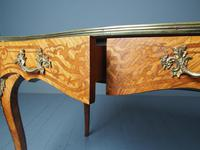 Antique Victorian Inlaid Kingwood Writing Table (10 of 14)
