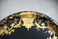 Black & Gilded Papier Mache Tray (7 of 10)