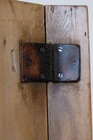 Antique Pine Wall Cupboard with Rare Leather Hinges (16 of 17)