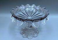 Small English Victorian Glass Tazza - 1891 (2 of 9)