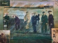 'Classical Golf' - Beautiful Signed Original 20thc Mixed Media Abstract Painting (6 of 11)