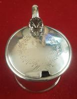Heavy Sterling Silver Mustard Pot t/w Blue Liner (2 of 4)