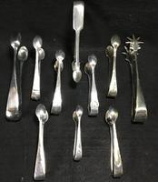 10 Silver Plated Sugar Tongs Mid Victorian to Early 1900s (3 of 4)