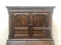 Antique 18th Century Welsh Oak Two Stage Bureau Cupboard (3 of 15)