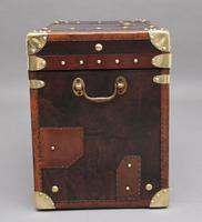 Early 20th Century Leather Bound ex Army Trunk (5 of 11)