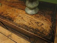 Antique Continental Carved Oak Coffer, Blanket Box, Hall Storage Chest for shoes (4 of 17)