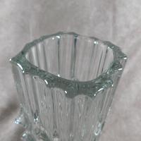 Large Czech, Rosice, Sklo Union,  Vladislav Urban, Clear Glass Vase, Pattern 617 (2 of 3)