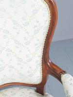 Antique Pair of French Rosewood Armchairs (10 of 19)