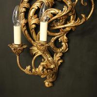 Florentine Silver Giltwood Antique Wall Lights (10 of 10)