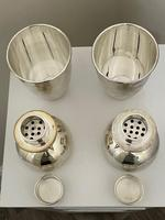 Pair of Decorative Art Deco Style Silver Snowmen Cocktail Shakers (27 of 42)