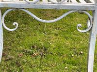 Large French Art Deco Style Fleur De Lis Garden Double Bowed  Curved Bench Seats 3 (15 of 37)