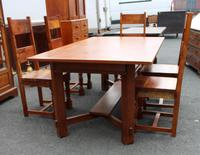 1960's Teak Refectory Table & Set of 6 Dining Chairs '4+2 Carvers' (3 of 3)