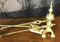 Quality Brass Andirons & Companion Set (4 of 17)