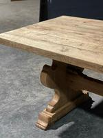 Large Rustic Bleached Oak Farmhouse Refectory Dining Table (10 of 25)