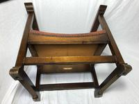 Fine Vintage Early 20th Century Original Adolf Loos Vienna Fireside Leather Armchair Secessionist Oak (33 of 46)